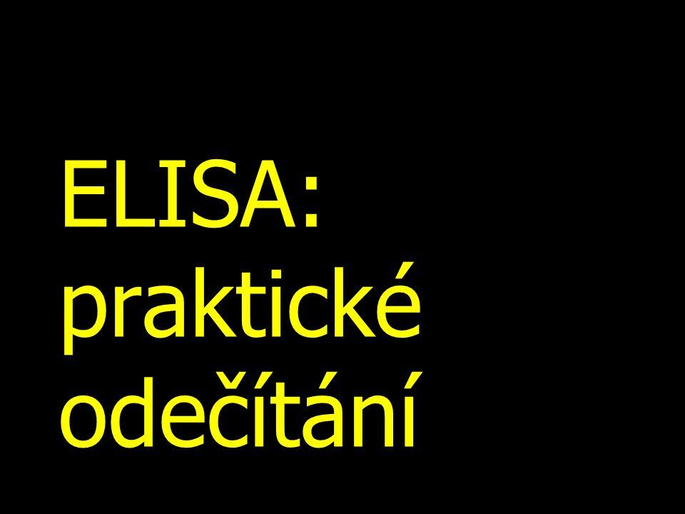 ELISA: praktické odečítání