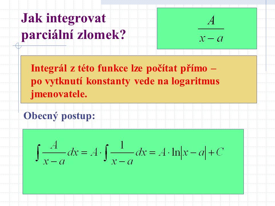 Jak integrovat parciální zlomek
