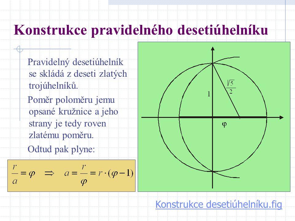 Konstrukce pravidelného desetiúhelníku