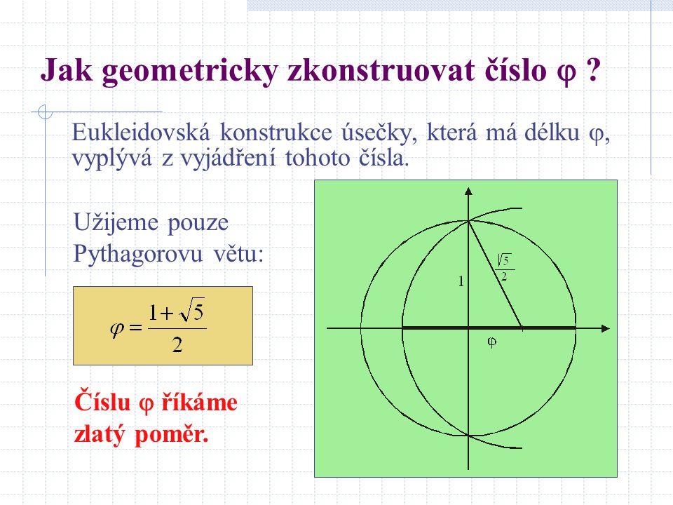 Jak geometricky zkonstruovat číslo 