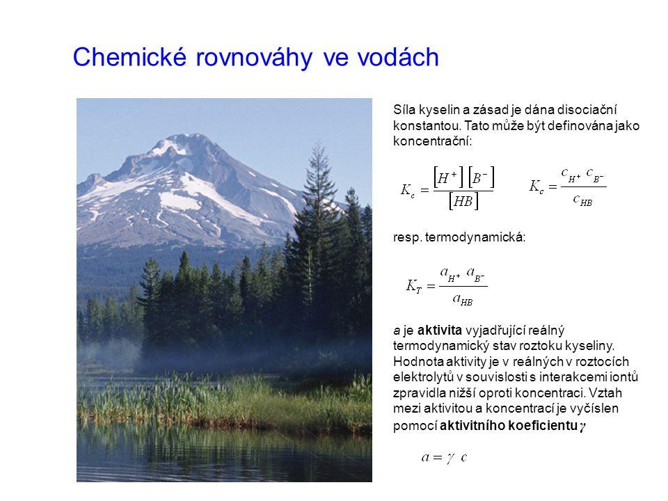 Chemické rovnováhy ve vodách