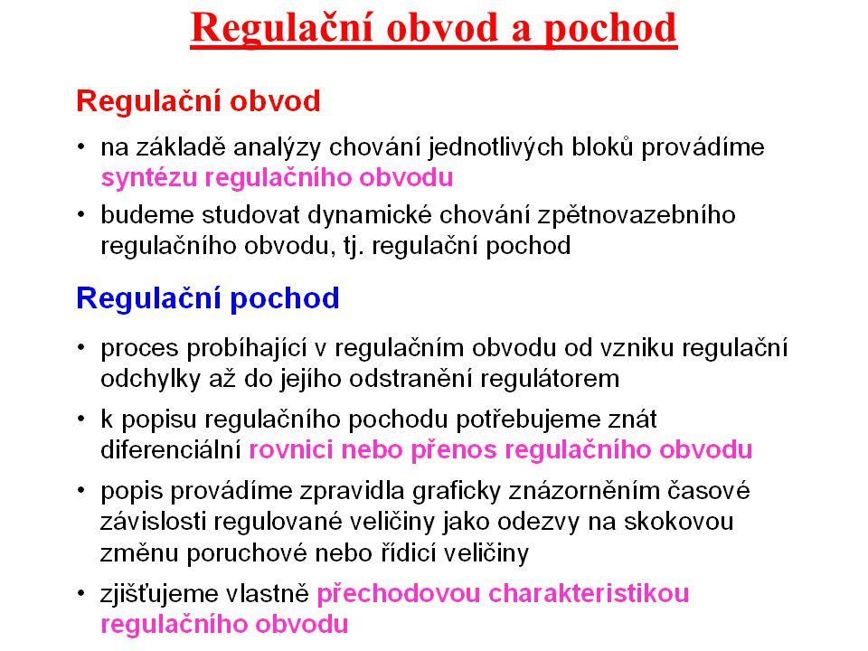 Regulační obvod a pochod