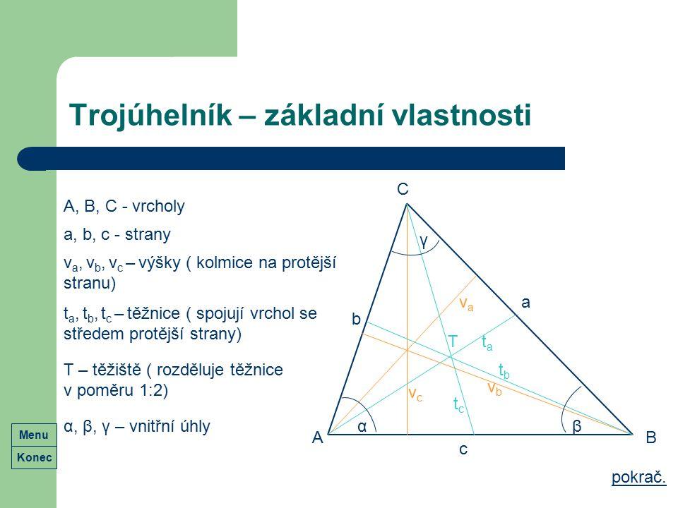 Trojúhelník – základní vlastnosti