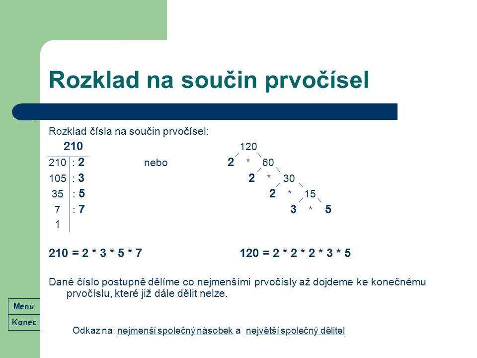 Rozklad na součin prvočísel