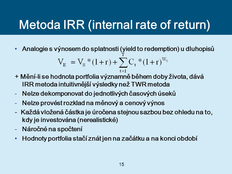 Metoda IRR (internal rate of return)