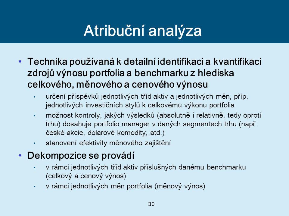 Atribuční analýza