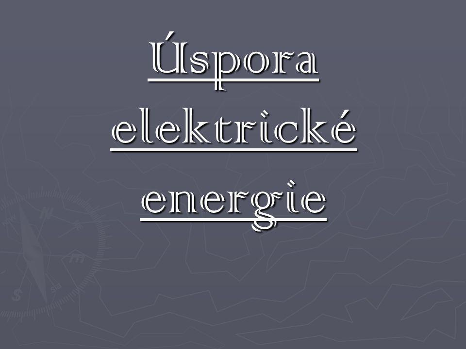 Úspora elektrické energie