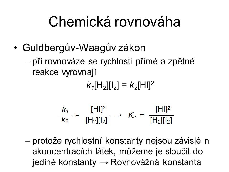 Chemická rovnováha Guldbergův-Waagův zákon
