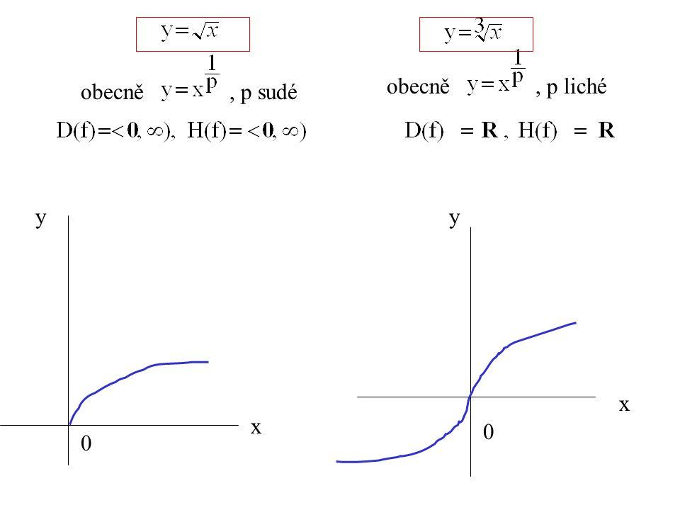 obecně , p liché obecně , p sudé y y x x