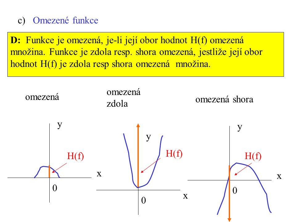 c) Omezené funkce