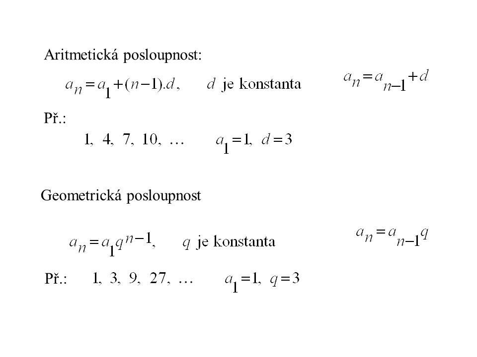 Aritmetická posloupnost: