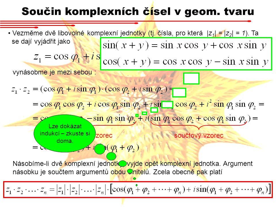 Součin komplexních čísel v geom. tvaru