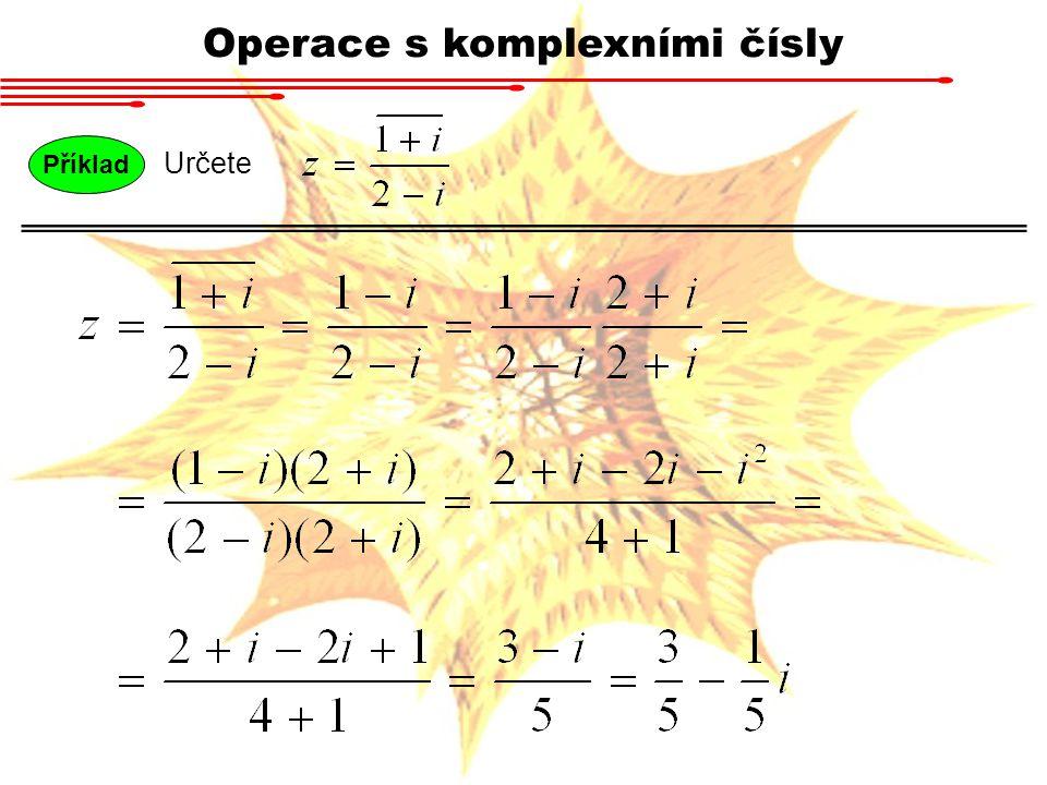 Operace s komplexními čísly