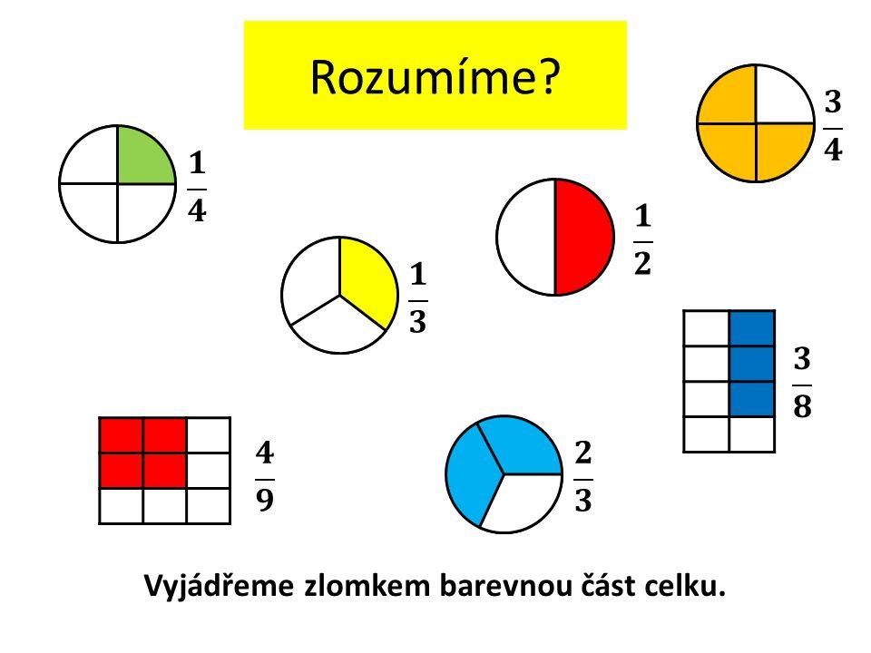 Vyjádřeme zlomkem barevnou část celku.
