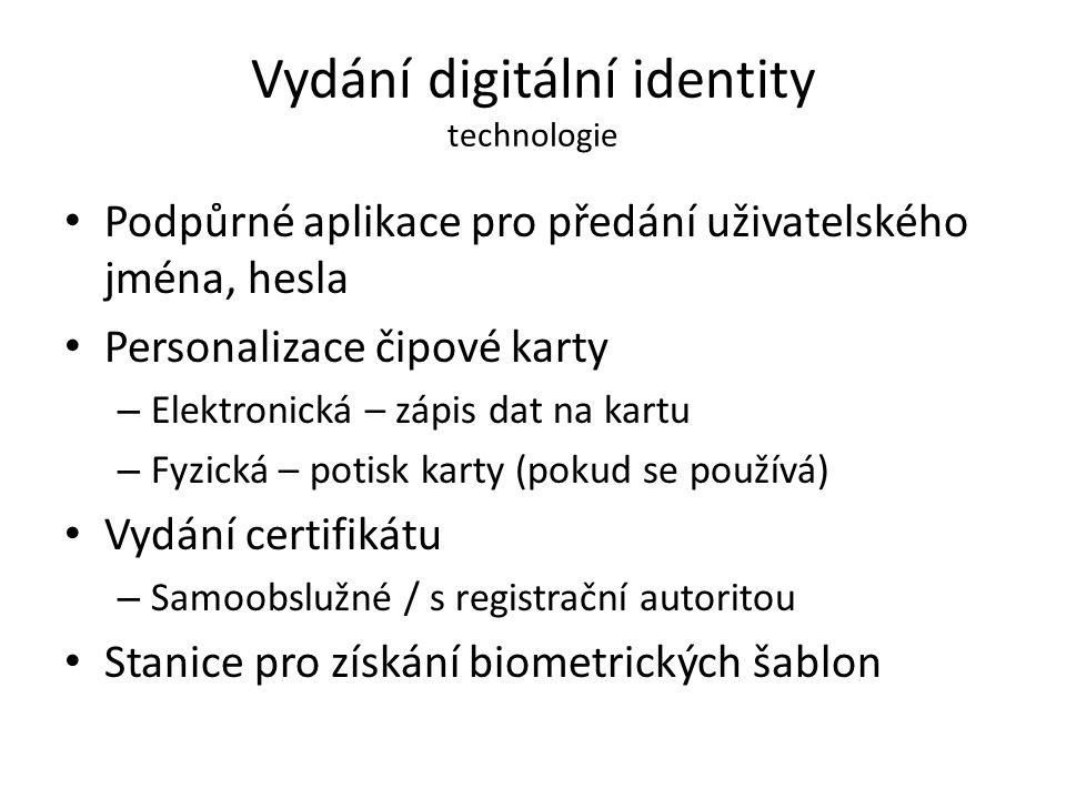 Vydání digitální identity technologie