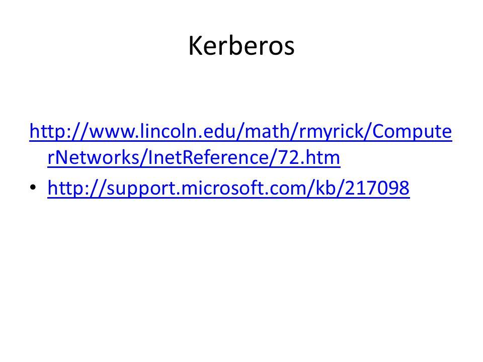 Kerberos http://www.lincoln.edu/math/rmyrick/ComputerNetworks/InetReference/72.htm.