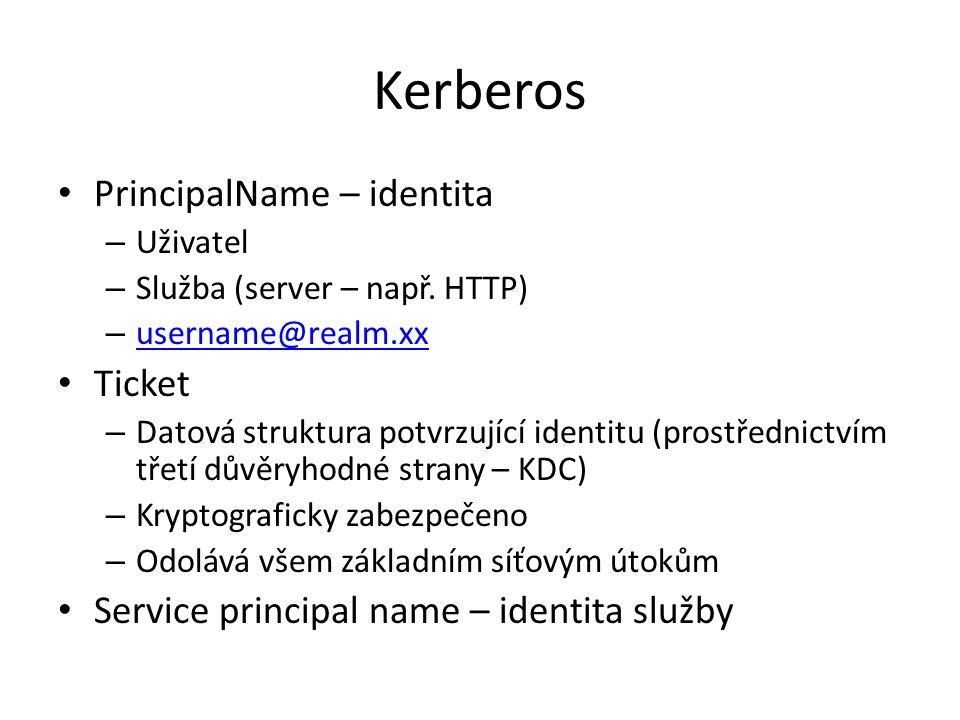 Kerberos PrincipalName – identita Ticket