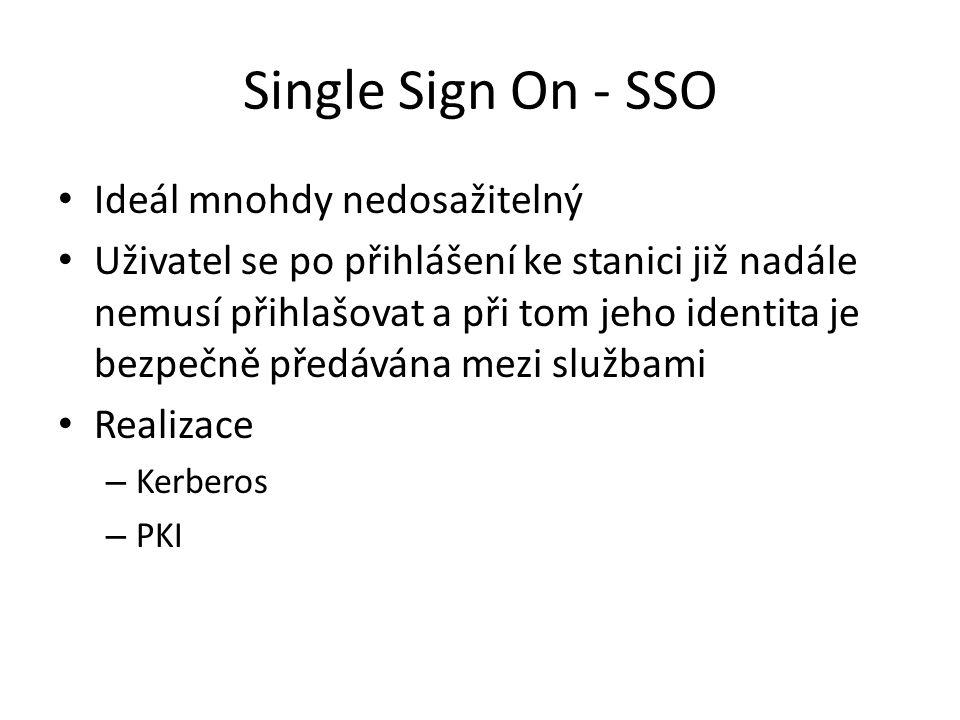 Single Sign On - SSO Ideál mnohdy nedosažitelný
