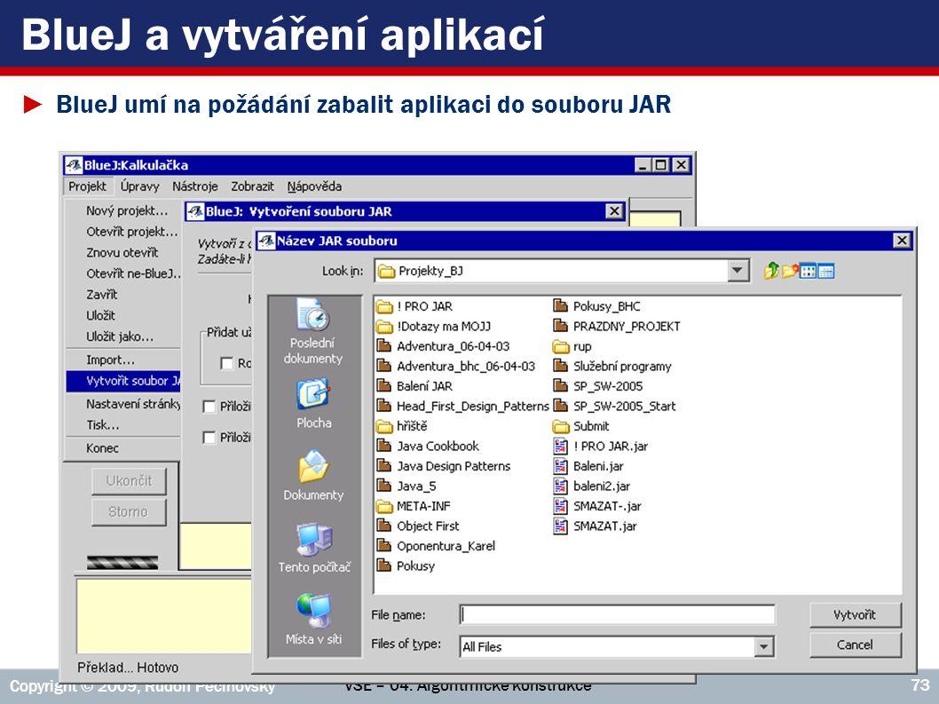 BlueJ a vytváření aplikací