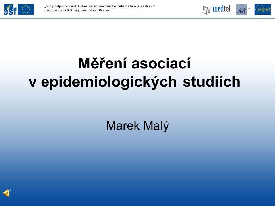 Měření asociací v epidemiologických studiích