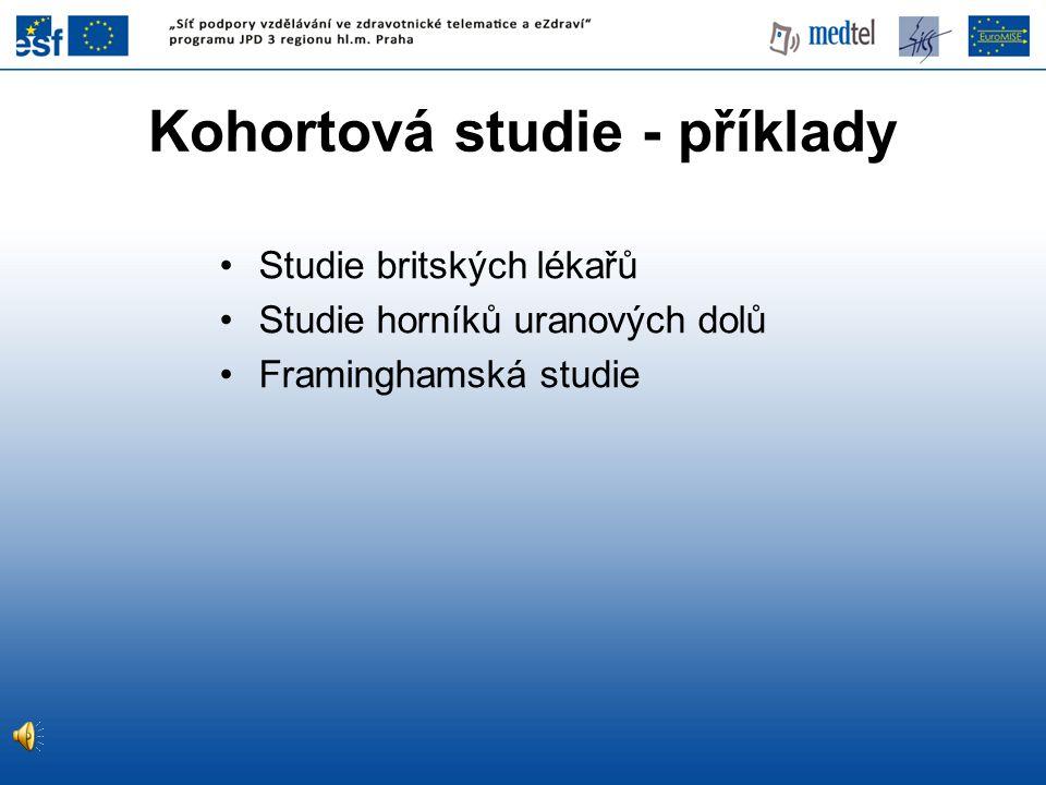 Kohortová studie - příklady