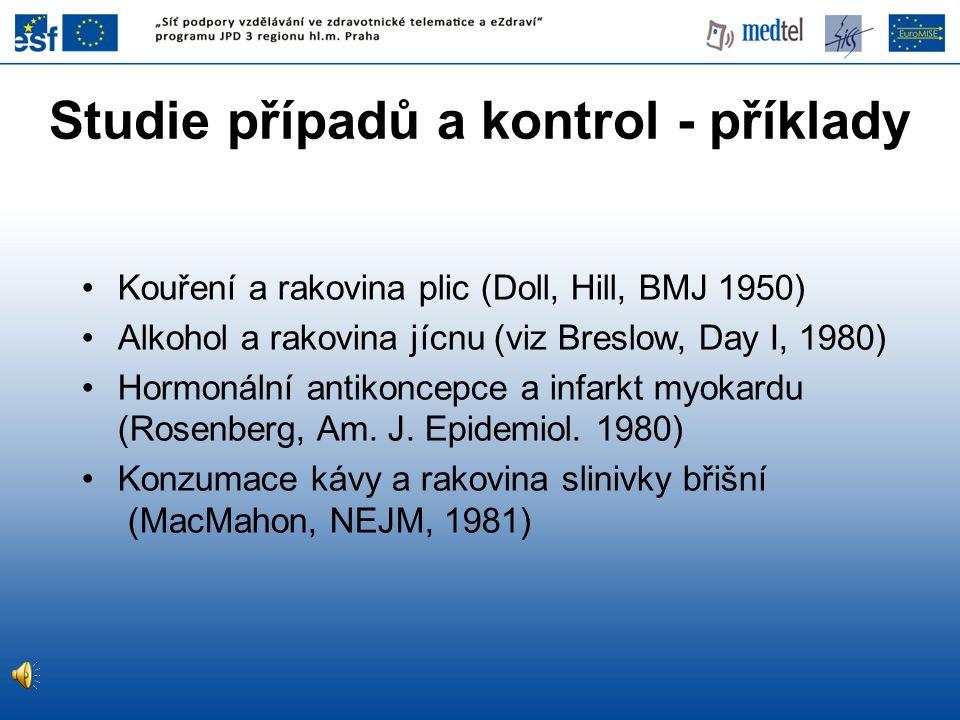 Studie případů a kontrol - příklady