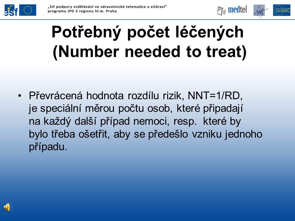 Potřebný počet léčených (Number needed to treat)