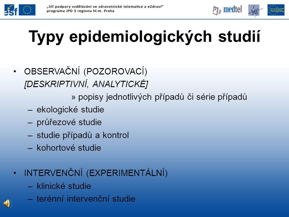 Typy epidemiologických studií