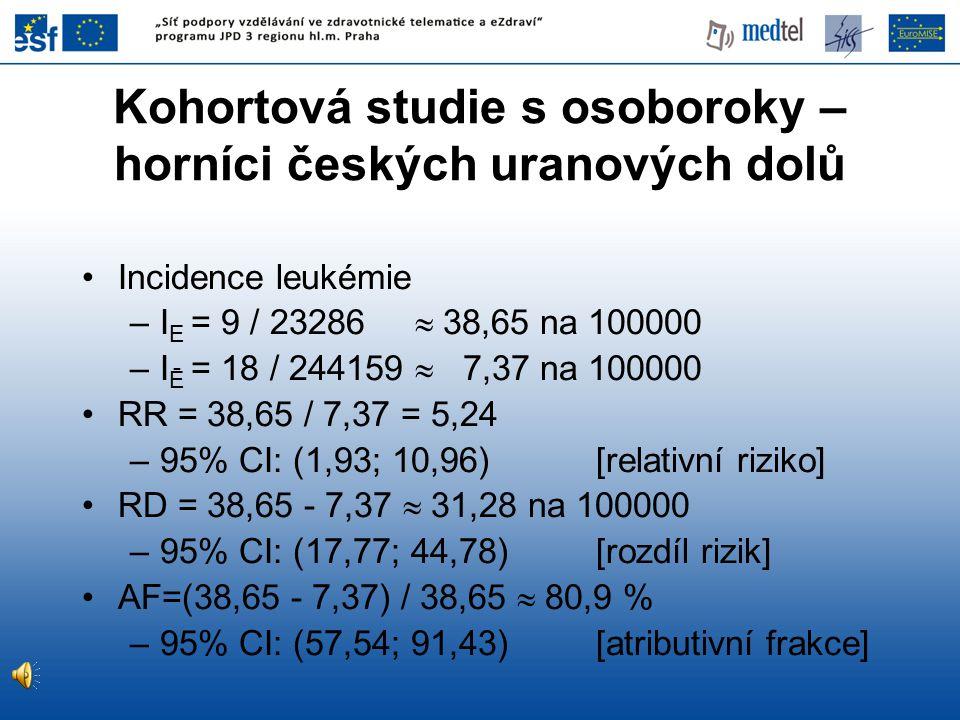 Kohortová studie s osoboroky – horníci českých uranových dolů