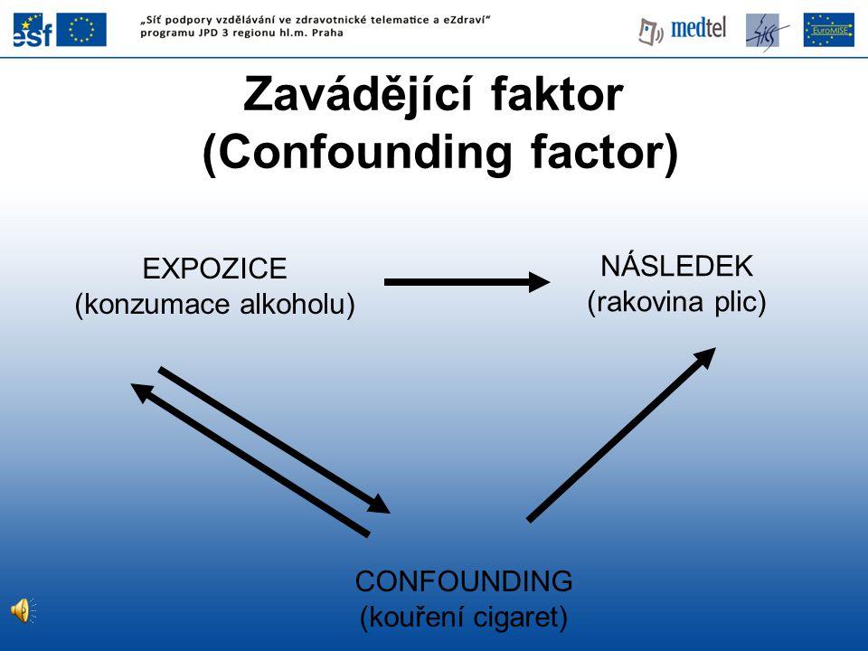 Zavádějící faktor (Confounding factor)