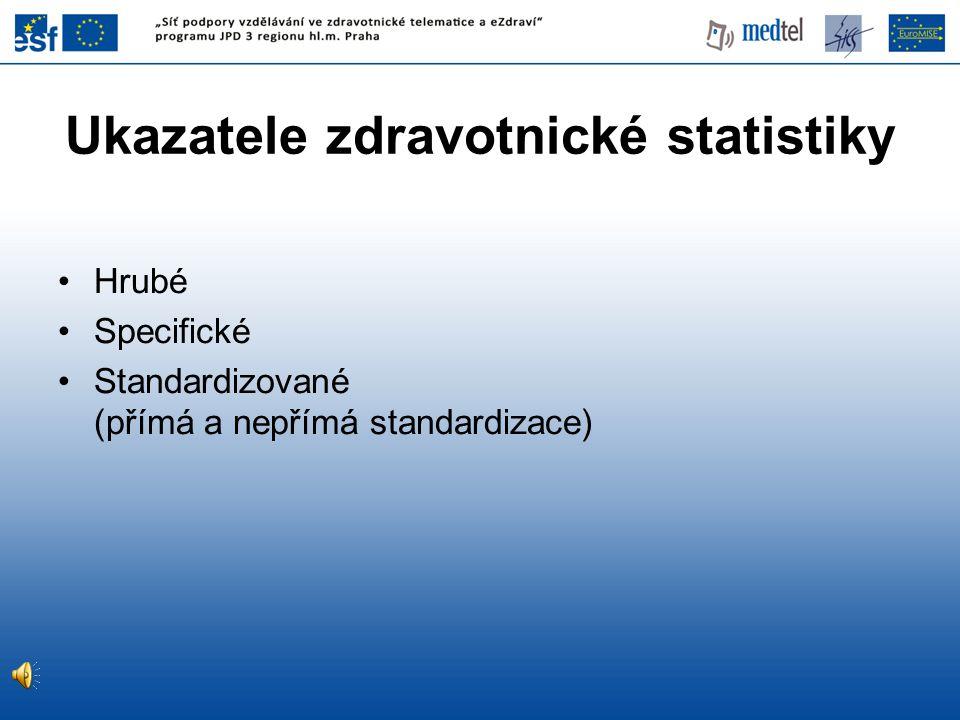 Ukazatele zdravotnické statistiky