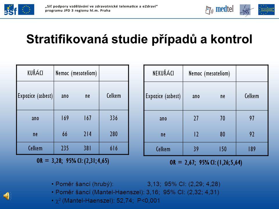 Stratifikovaná studie případů a kontrol