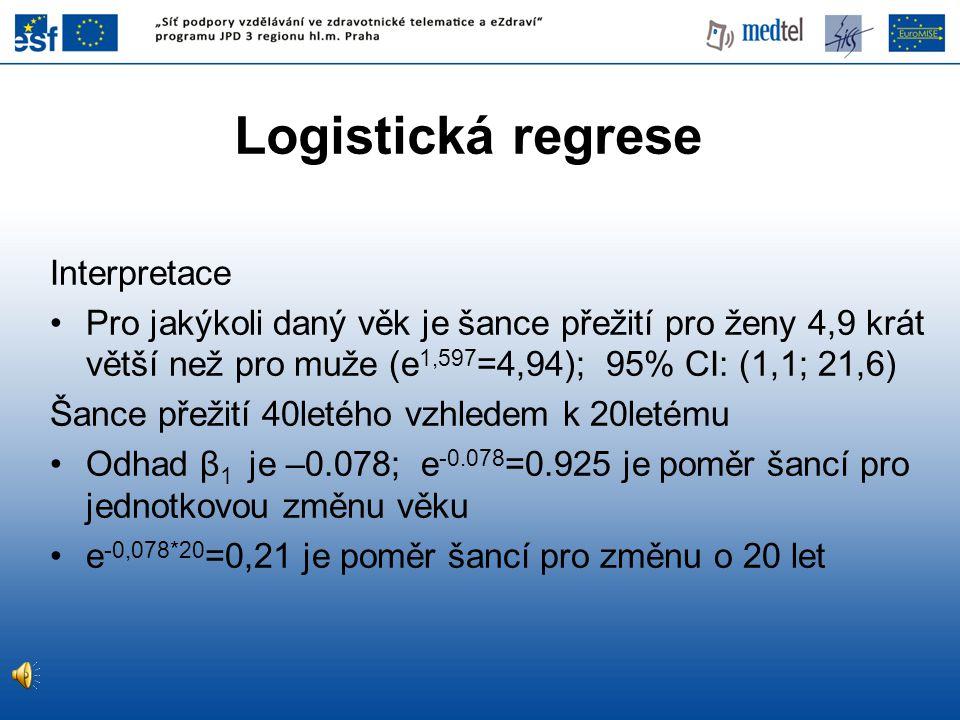 Logistická regrese Interpretace