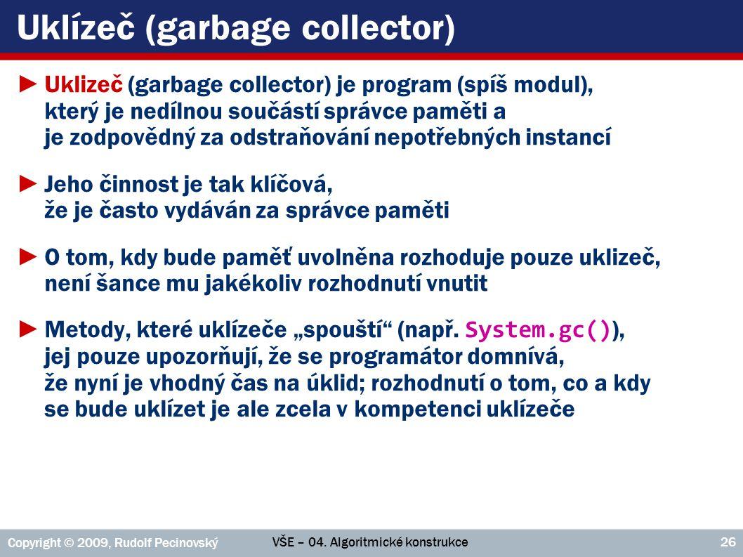 Uklízeč (garbage collector)