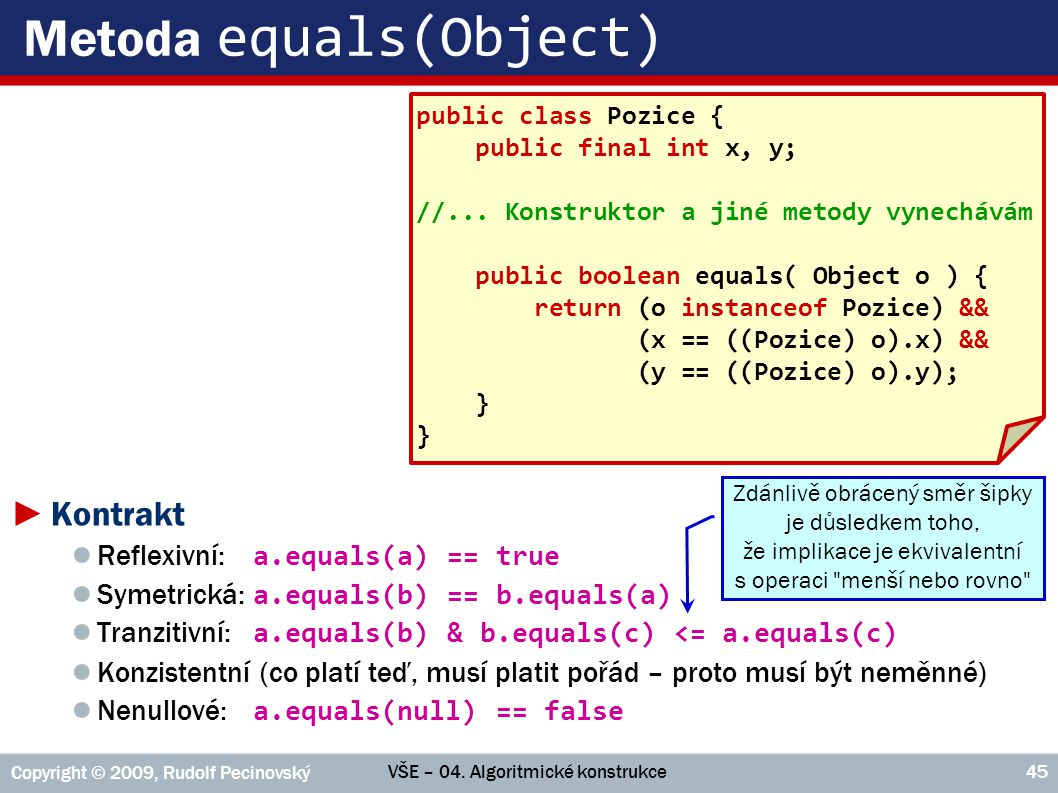 Metoda equals(Object)