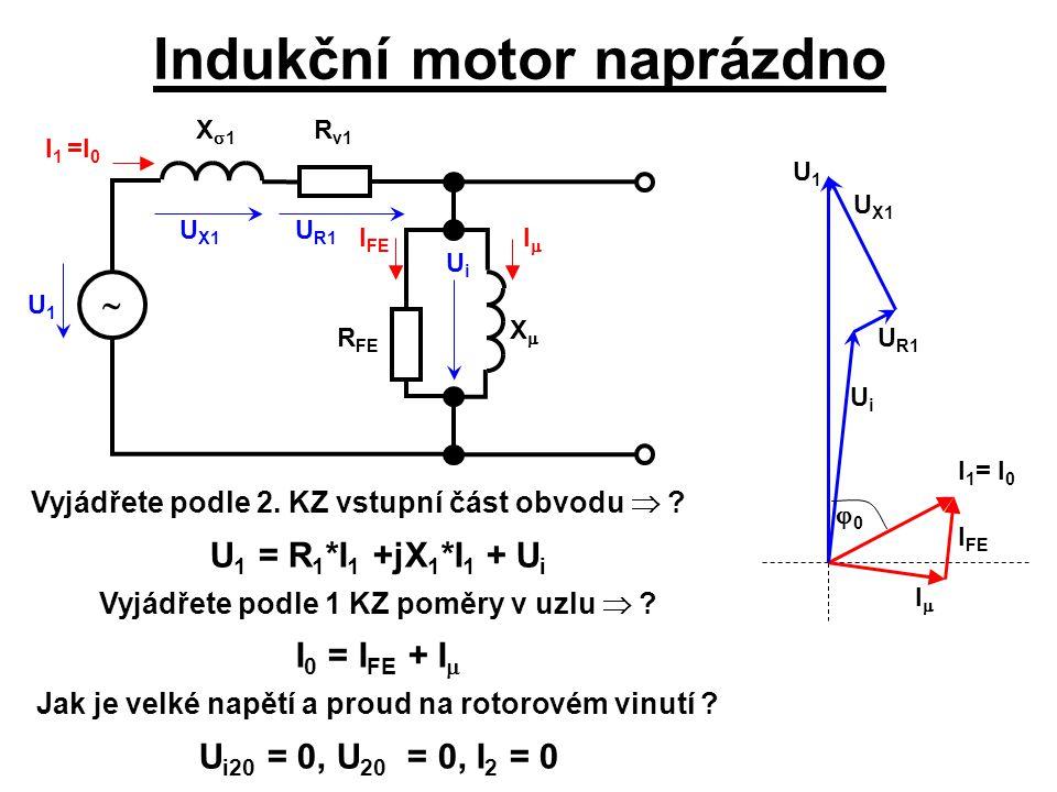 Indukční motor naprázdno