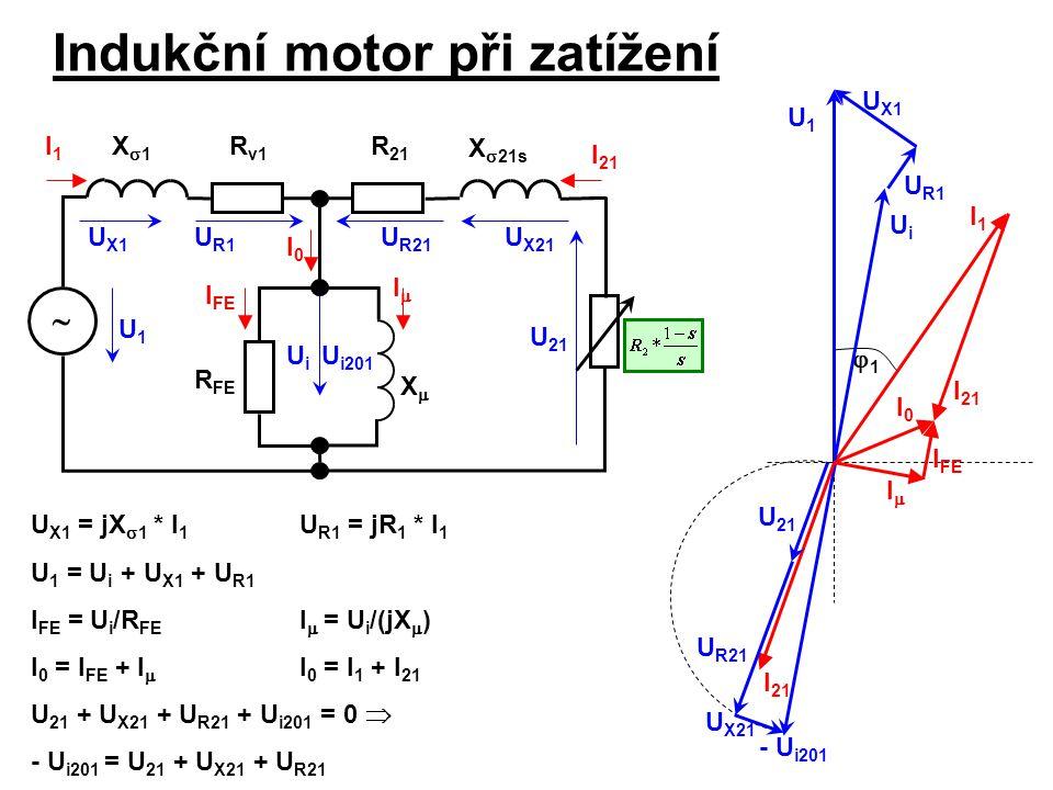 Indukční motor při zatížení