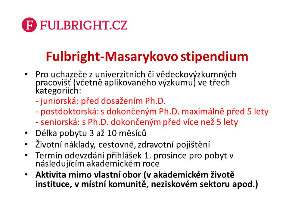 Fulbright-Masarykovo stipendium