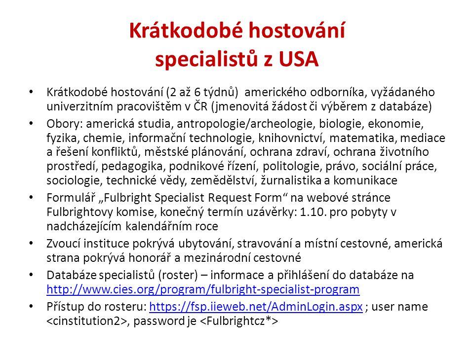 Krátkodobé hostování specialistů z USA