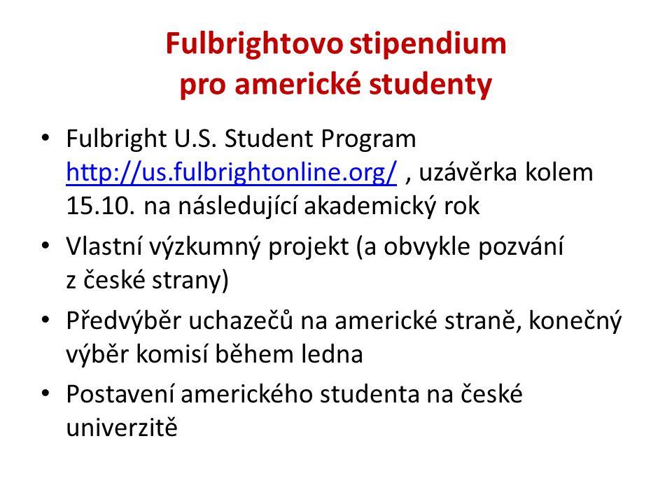 Fulbrightovo stipendium pro americké studenty