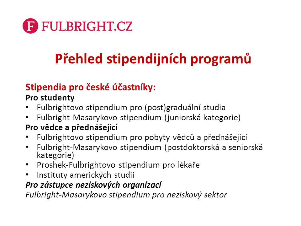 Přehled stipendijních programů