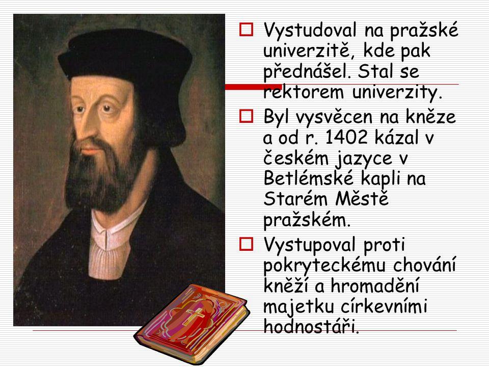 Vystudoval na pražské univerzitě, kde pak přednášel