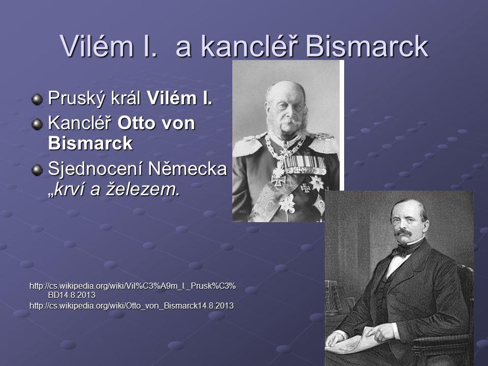 Vilém I. a kancléř Bismarck