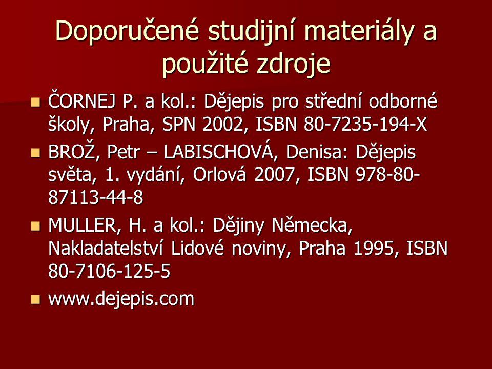 Doporučené studijní materiály a použité zdroje