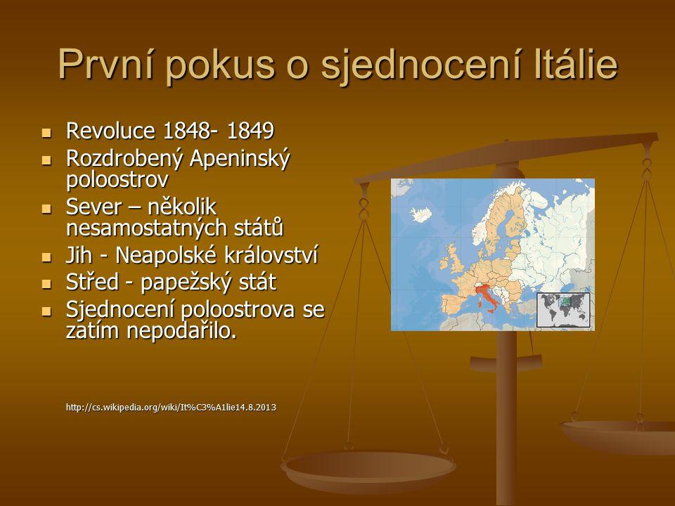 První pokus o sjednocení Itálie