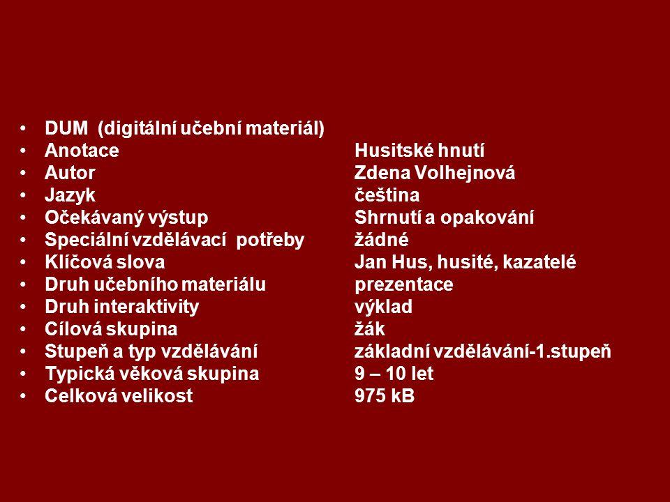 DUM (digitální učební materiál)