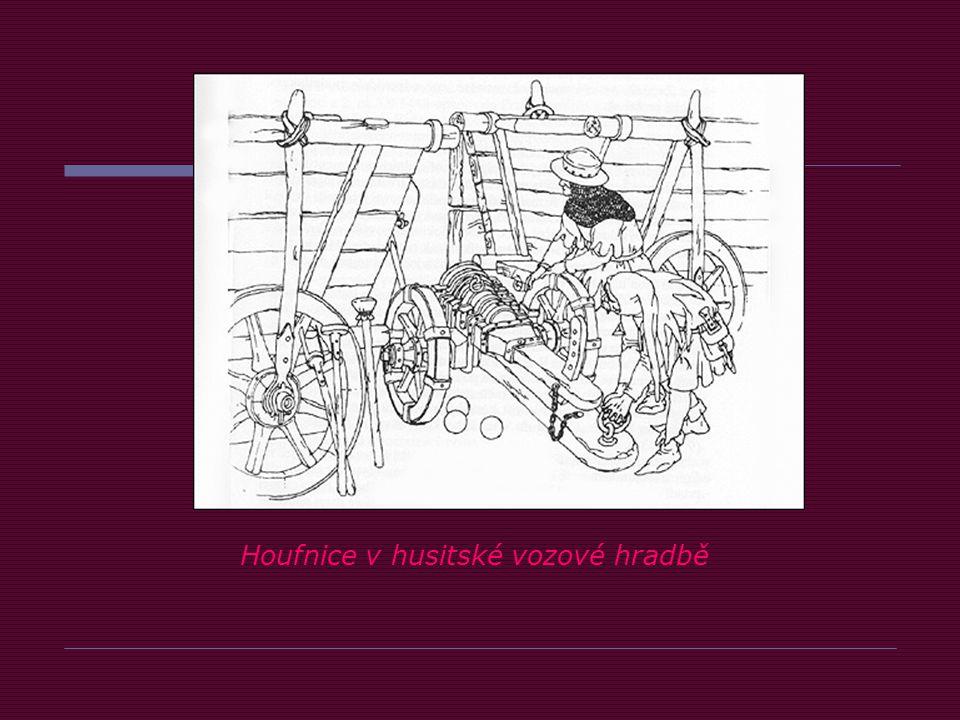 Houfnice v husitské vozové hradbě