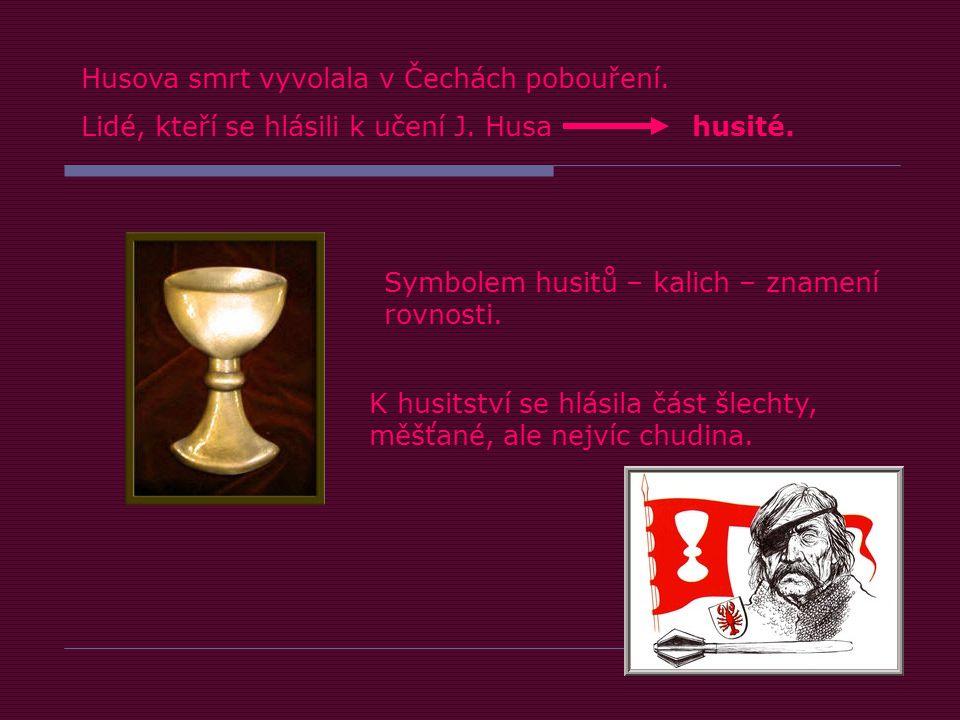 Husova smrt vyvolala v Čechách pobouření.