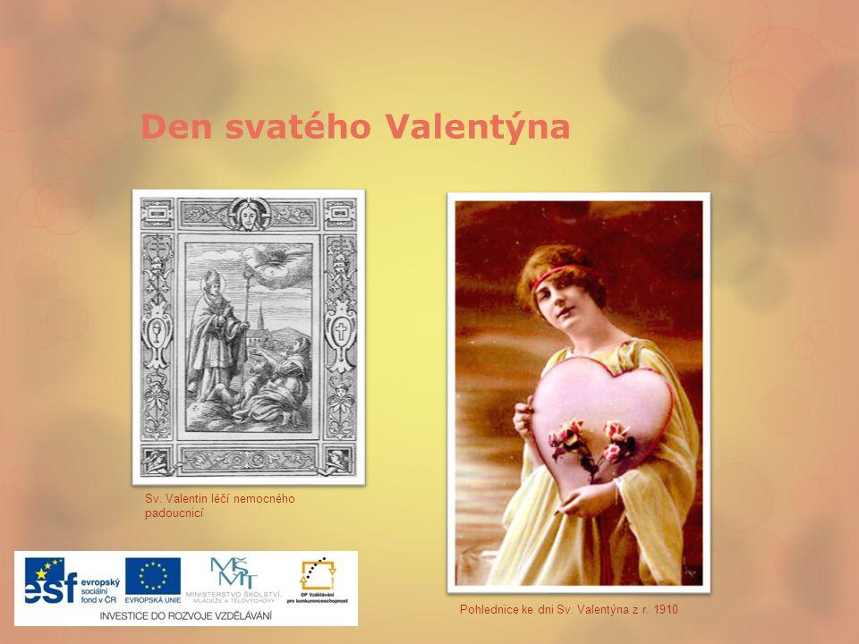 Den svatého Valentýna Sv. Valentin léčí nemocného padoucnicí