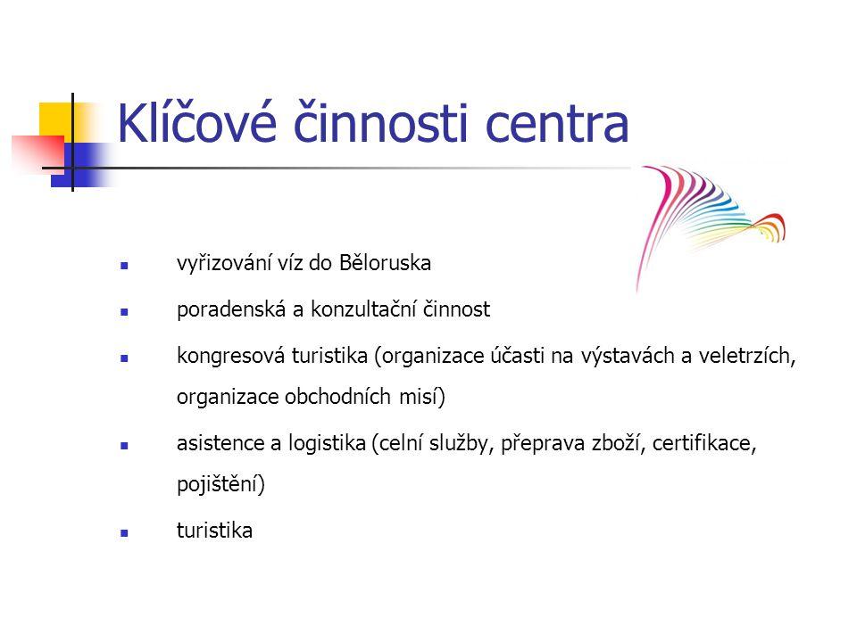 Klíčové činnosti centra